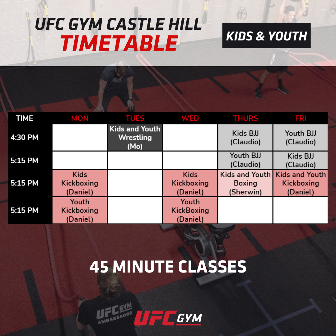 Kids & Youth Timetable